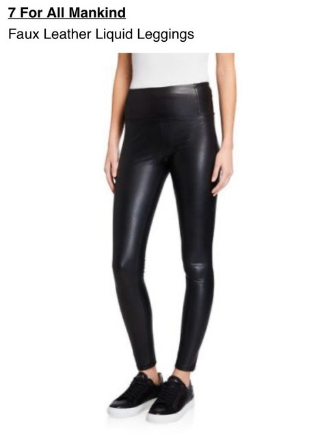 Item - Black Dark Rinse Faux Leather Liquid Jeggings Size 4 (S, 27)