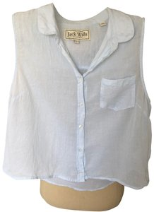Jack Wills Button Down Shirt blue and white