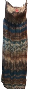 multi color wrath time green blue brown Maxi Dress by She's Cool