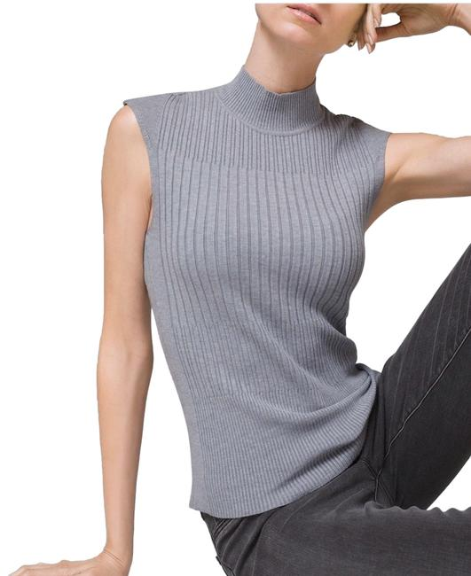 Item - Whbm Ribbed Sweater Tank Silver Top