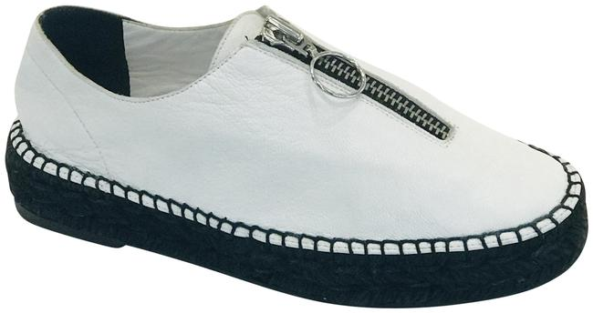 Item - White Devon Pebbled Leather Espadrille Wedges Size EU 38 (Approx. US 8) Regular (M, B)