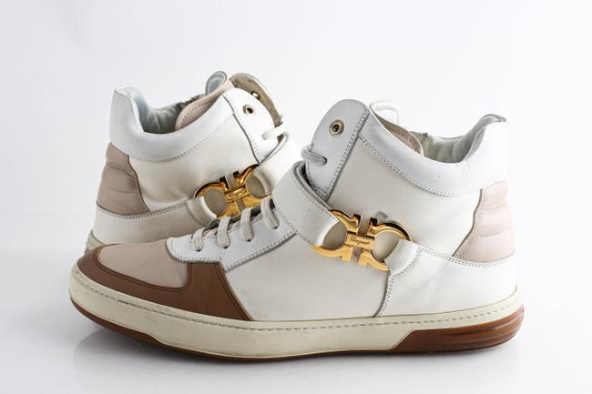 Item - White Off-white Nayon Leather High-top Sneakers Shoes