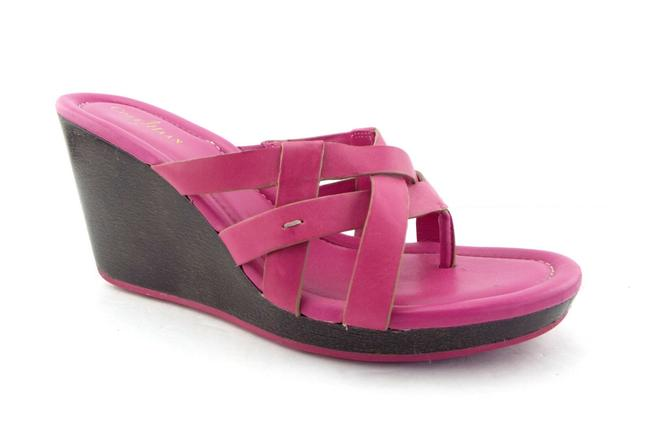 Item - Hot Pink Nike Air Leather Wedge Slide Sandals Size US 7.5 Regular (M, B)