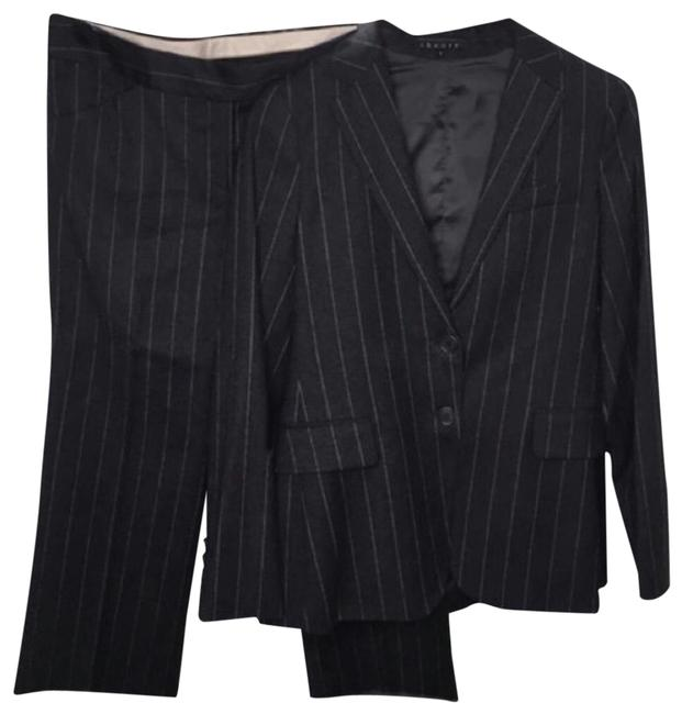 Item - Black Wool Pinstripe 2 Piece Pant Suit Size 8 (M)