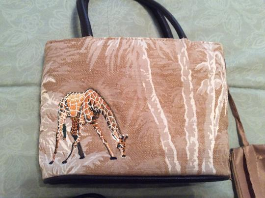 Bueno Collection Cross Body Small Fabric Clutch Clutch Clutch Animal Print Shoulder Bag