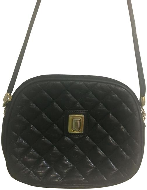 Item - Quilted Black Leather Cross Body Bag