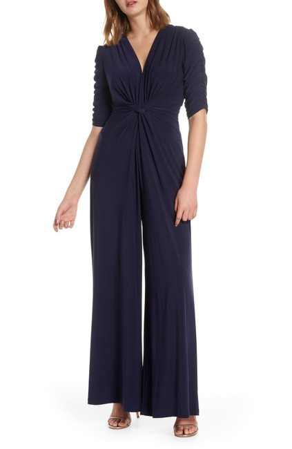 Item - Navy Gathered Sleeve Romper/Jumpsuit