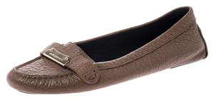 Burberry Leather Signature Brown Flats