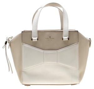 Kate Spade Fabric Leather Tote in Beige