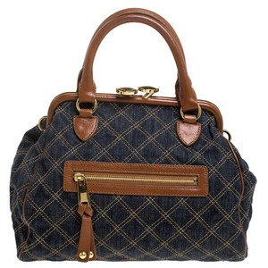 Marc Jacobs Quilted Denim Satchel in Blue