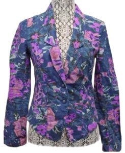 Free People Purple, Blue,pink Blazer
