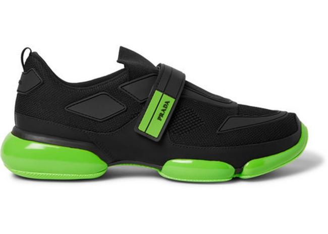 Item - Black Green Cloudbust Sneakers Size EU 39 (Approx. US 9) Regular (M, B)