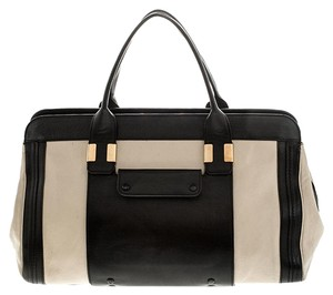 Chloé Leather Satchel in Black