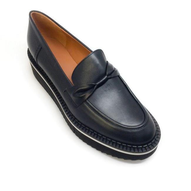Item - Black Leather Booster Loafer Flats Size EU 38.5 (Approx. US 8.5) Regular (M, B)