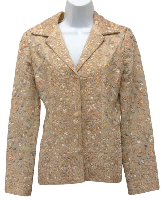 Preload https://item3.tradesy.com/images/biya-tan-with-multicolored-embroidery-jacket-s-blazer-size-6-s-2706952-0-0.jpg?width=400&height=650