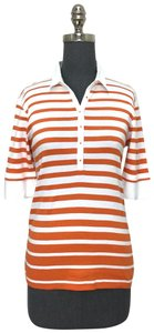 Bogner T Shirt Orange/ White