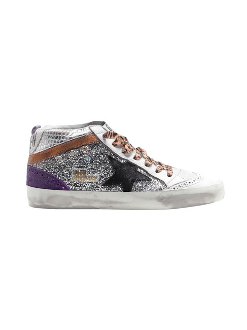 Item - White Mid Star In Leather Sneakers Size EU 35 (Approx. US 5) Regular (M, B)