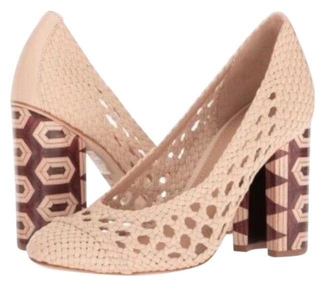 Item - White Grove Of Buttery Woven Leather Wood Heel Pumps Size US 8.5 Regular (M, B)
