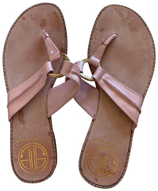 Item - Pink Leather Thong Style Sandals Size US 6 Regular (M, B)