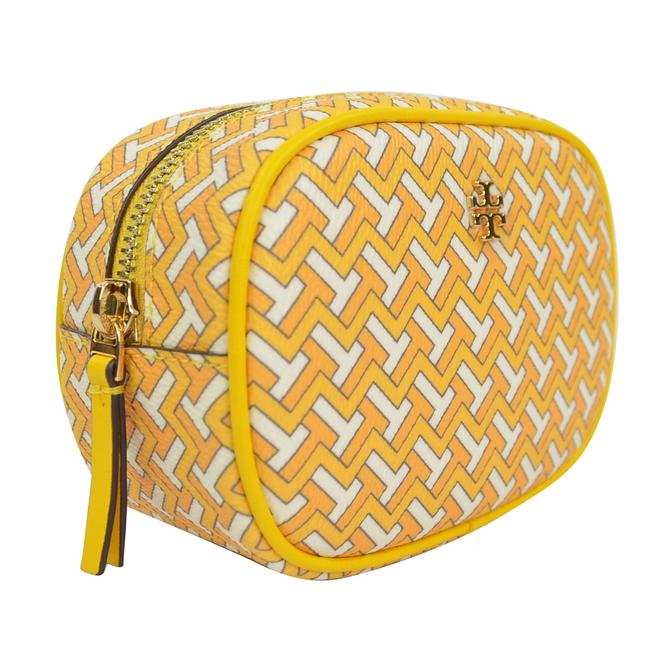 Item - Yellow T Tile Pouch Cosmetic Bag