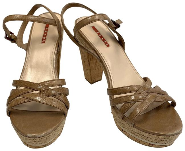 Item - Tan Sandal Platforms Size EU 41 (Approx. US 11) Regular (M, B)