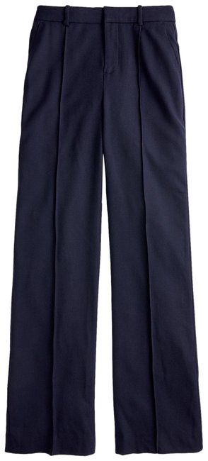 J.Crew Blue Wool Flannel Full-length Pants Size Petite 6 (S) J.Crew Blue Wool Flannel Full-length Pants Size Petite 6 (S) Image 1