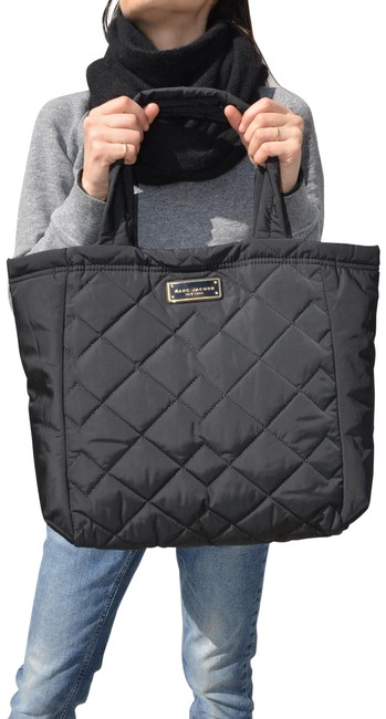 Marc Jacobs Gold Quilted Black Nylon Tote Marc Jacobs Gold Quilted Black Nylon Tote Image 1
