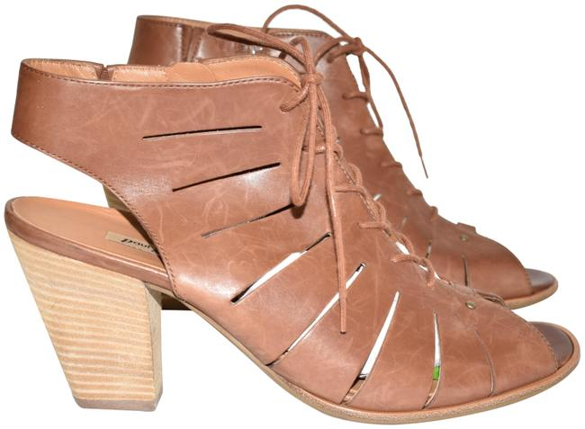 Item - Cuoio Cosmo Peep Toe Leather Bootie Cayanne (2)(Pg5) Sandals Size US 10 Regular (M, B)