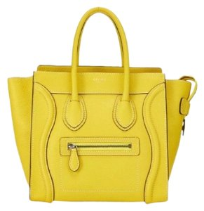 Céline Totebag Leatherbag Luggage Luggage Tote in Yellow