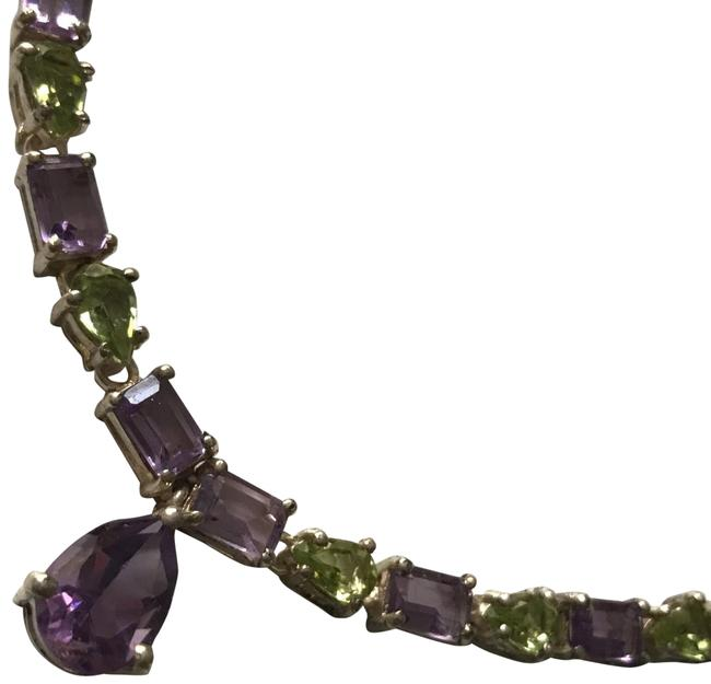 Unbranded Purple Green Necklace Unbranded Purple Green Necklace Image 1