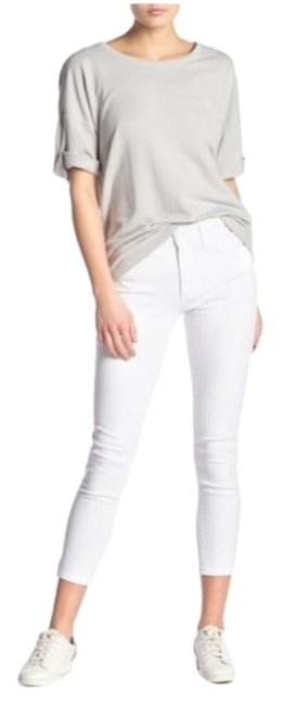 Item - White Light Wash Cropped Skinny Jeans Size 32 (8, M)