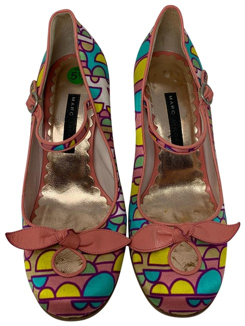 Item - Pink Blue Yellow White Pink. Heels Formal Shoes Size US 5.5 Wide (C, D)