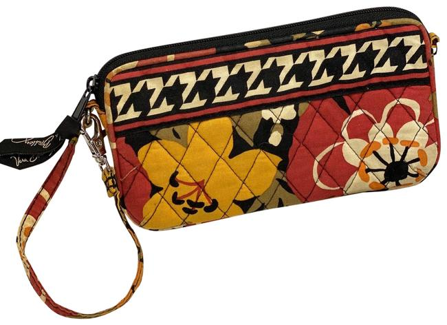 Item - Wristlet/Purse Black/Red Cotton Wristlet