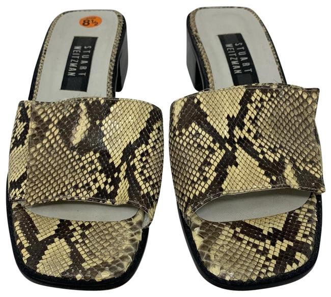 Item - Yellow and Black Slides Sandals Size US 8.5 Wide (C, D)