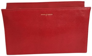 Aspinal of London red Clutch