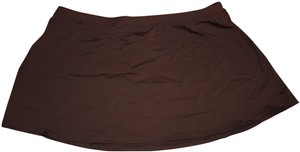 ANNE COLE ANNE COLE SOLID SWIM SKIRT COVER UP BROWN L
