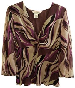Allison Taylor Top Purple/White/Black