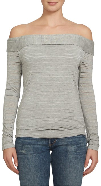 Item - Gray Off The Shoulder Blouse Size 00 (XXS)