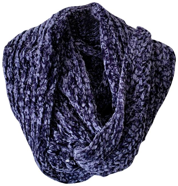 Item - Navy Blue Knitted Chenille Infinity Scarf/Wrap