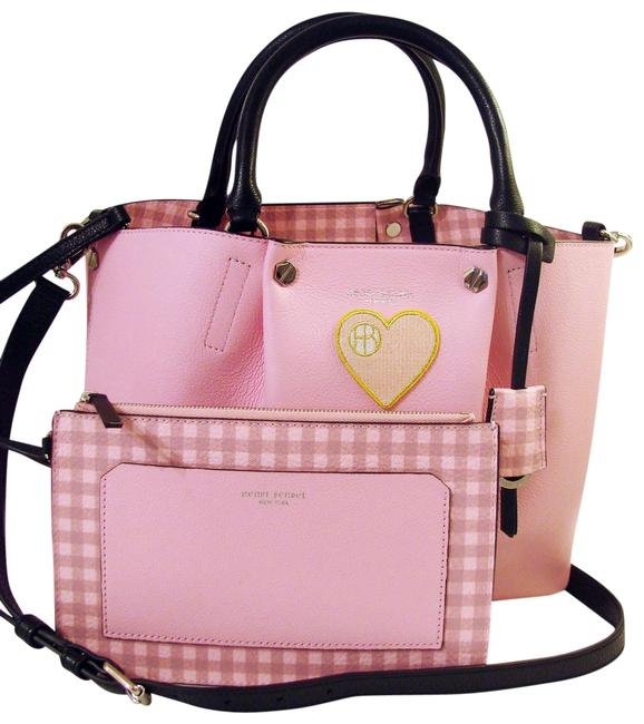 Item - W Claremeont W/Gingham Pouch Pink/Multi Leather Satchel