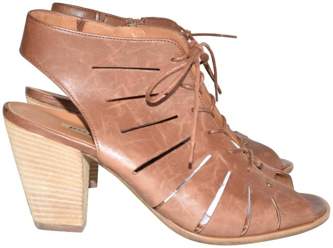 Item - Cuoio Cosmo Peep Toe Leather Bootie Cayanne (M36) Sandals Size US 8.5 Regular (M, B)