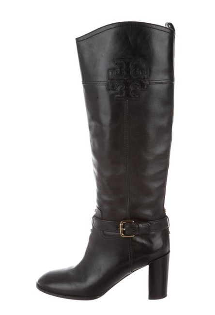 Item - Black Leather Knee-high Boots/Booties Size US 9.5 Regular (M, B)