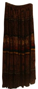 Free Size Skirt brown with orange,green,yellow, black and white