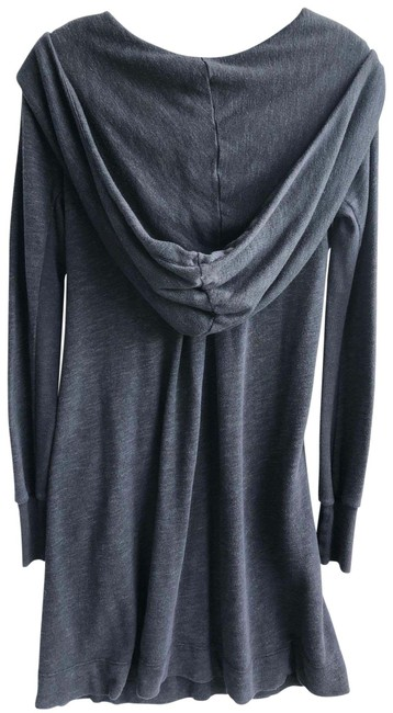 James Perse Dark Gray Large Hooded Mid-length Short Casual Dress Size 4 (S) James Perse Dark Gray Large Hooded Mid-length Short Casual Dress Size 4 (S) Image 1