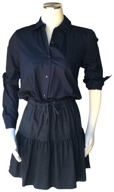 Item - Navy/Black And Navy/Black Cotton Short Casual Dress Size 0 (XS)