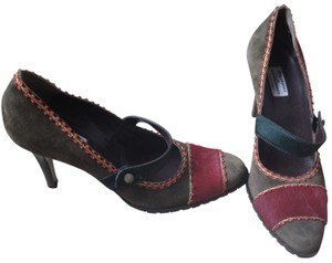 Philosophy di Alberta Ferretti green, blue, burgundy, yellow and orange accents Pumps