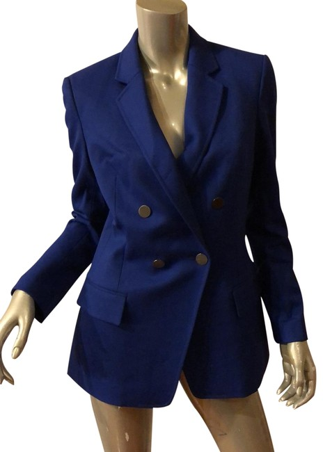 Item - Blue L Women Blazer No Tag Please Refer To The Measurement Taken Activewear Outerwear Size 4 (S)