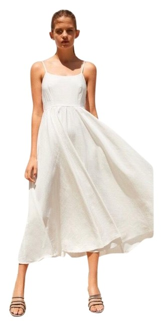 Item - White Limited Edition Full Skirt Mid-length Casual Maxi Dress Size 2 (XS)