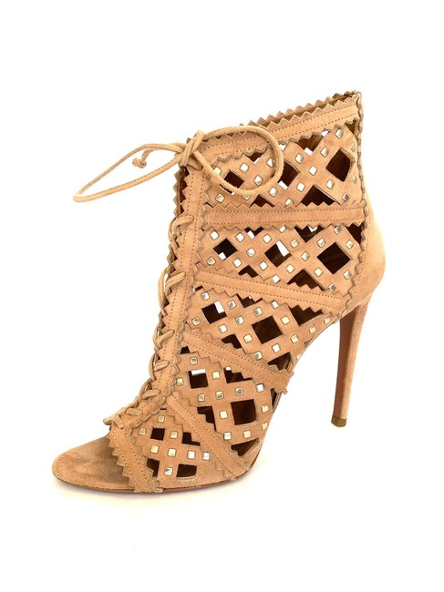 Item - Blush Lace Up Suede Cutout with Studs Boots/Booties Size EU 38.5 (Approx. US 8.5) Regular (M, B)