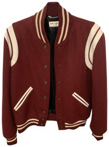 Saint Laurent Bordeaux Red Jacket